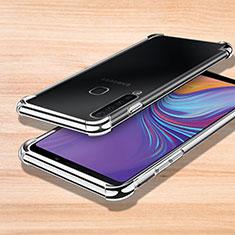 Custodia Silicone Trasparente Ultra Sottile Cover Morbida H01 per Samsung Galaxy A9s Argento