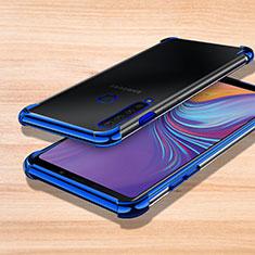 Custodia Silicone Trasparente Ultra Sottile Cover Morbida H01 per Samsung Galaxy A9s Blu
