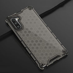Custodia Silicone Trasparente Ultra Sottile Cover Morbida H01 per Samsung Galaxy Note 10 Nero