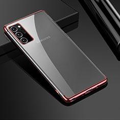 Custodia Silicone Trasparente Ultra Sottile Cover Morbida H01 per Samsung Galaxy Note 20 Ultra 5G Oro Rosa
