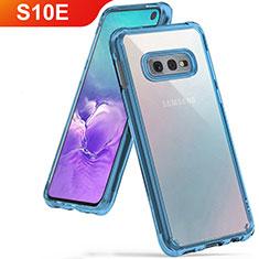 Custodia Silicone Trasparente Ultra Sottile Cover Morbida H01 per Samsung Galaxy S10e Cielo Blu