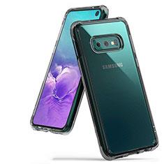 Custodia Silicone Trasparente Ultra Sottile Cover Morbida H01 per Samsung Galaxy S10e Grigio