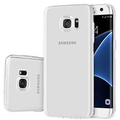 Custodia Silicone Trasparente Ultra Sottile Cover Morbida H01 per Samsung Galaxy S7 Edge G935F Chiaro