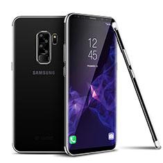 Custodia Silicone Trasparente Ultra Sottile Cover Morbida H01 per Samsung Galaxy S9 Plus Argento