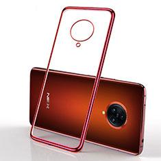 Custodia Silicone Trasparente Ultra Sottile Cover Morbida H01 per Vivo Nex 3 5G Rosso