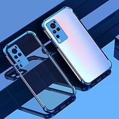 Custodia Silicone Trasparente Ultra Sottile Cover Morbida H01 per Vivo X60 Pro 5G Blu