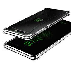 Custodia Silicone Trasparente Ultra Sottile Cover Morbida H01 per Xiaomi Black Shark Argento