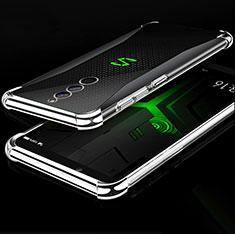 Custodia Silicone Trasparente Ultra Sottile Cover Morbida H01 per Xiaomi Black Shark Helo Argento