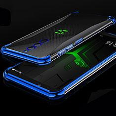 Custodia Silicone Trasparente Ultra Sottile Cover Morbida H01 per Xiaomi Black Shark Helo Blu