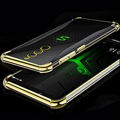 Custodia Silicone Trasparente Ultra Sottile Cover Morbida H01 per Xiaomi Black Shark Helo Oro