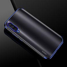 Custodia Silicone Trasparente Ultra Sottile Cover Morbida H01 per Xiaomi CC9e Blu