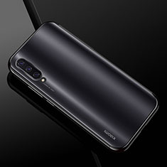 Custodia Silicone Trasparente Ultra Sottile Cover Morbida H01 per Xiaomi CC9e Nero