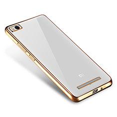 Custodia Silicone Trasparente Ultra Sottile Cover Morbida H01 per Xiaomi Mi 4i Oro