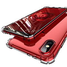 Custodia Silicone Trasparente Ultra Sottile Cover Morbida H01 per Xiaomi Mi 6X Chiaro
