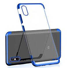 Custodia Silicone Trasparente Ultra Sottile Cover Morbida H01 per Xiaomi Mi 8 Explorer Blu