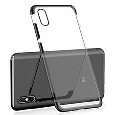 Custodia Silicone Trasparente Ultra Sottile Cover Morbida H01 per Xiaomi Mi 8 Explorer Nero