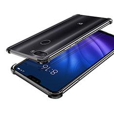 Custodia Silicone Trasparente Ultra Sottile Cover Morbida H01 per Xiaomi Mi 8 Lite Nero