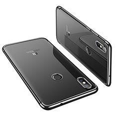 Custodia Silicone Trasparente Ultra Sottile Cover Morbida H01 per Xiaomi Mi 8 Nero