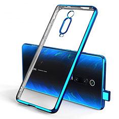 Custodia Silicone Trasparente Ultra Sottile Cover Morbida H01 per Xiaomi Mi 9T Blu