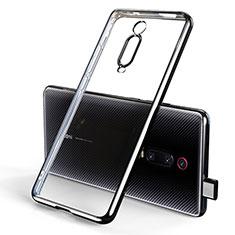 Custodia Silicone Trasparente Ultra Sottile Cover Morbida H01 per Xiaomi Mi 9T Nero
