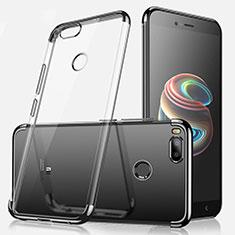 Custodia Silicone Trasparente Ultra Sottile Cover Morbida H01 per Xiaomi Mi A1 Nero