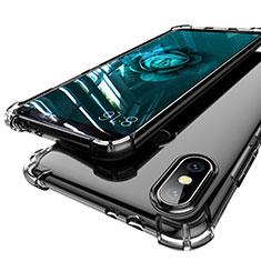 Custodia Silicone Trasparente Ultra Sottile Cover Morbida H01 per Xiaomi Mi A2 Grigio