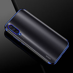 Custodia Silicone Trasparente Ultra Sottile Cover Morbida H01 per Xiaomi Mi A3 Blu