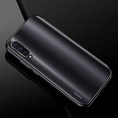 Custodia Silicone Trasparente Ultra Sottile Cover Morbida H01 per Xiaomi Mi A3 Nero