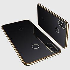 Custodia Silicone Trasparente Ultra Sottile Cover Morbida H01 per Xiaomi Mi Max 3 Oro
