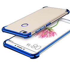 Custodia Silicone Trasparente Ultra Sottile Cover Morbida H01 per Xiaomi Mi Max Blu