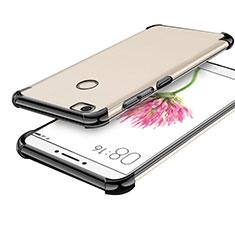 Custodia Silicone Trasparente Ultra Sottile Cover Morbida H01 per Xiaomi Mi Max Nero