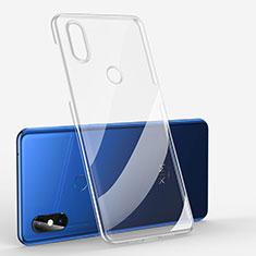 Custodia Silicone Trasparente Ultra Sottile Cover Morbida H01 per Xiaomi Mi Mix 3 Chiaro