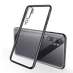 Custodia Silicone Trasparente Ultra Sottile Cover Morbida H01 per Xiaomi Mi Note 10 Nero