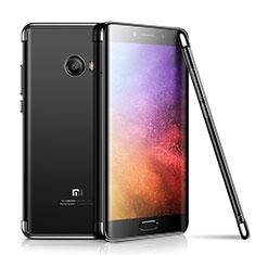 Custodia Silicone Trasparente Ultra Sottile Cover Morbida H01 per Xiaomi Mi Note 2 Nero