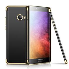 Custodia Silicone Trasparente Ultra Sottile Cover Morbida H01 per Xiaomi Mi Note 2 Oro