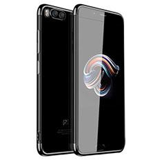 Custodia Silicone Trasparente Ultra Sottile Cover Morbida H01 per Xiaomi Mi Note 3 Nero