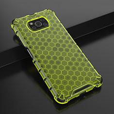 Custodia Silicone Trasparente Ultra Sottile Cover Morbida H01 per Xiaomi Poco X3 NFC Verde