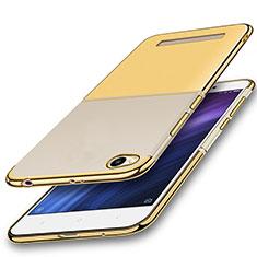 Custodia Silicone Trasparente Ultra Sottile Cover Morbida H01 per Xiaomi Redmi 4A Oro