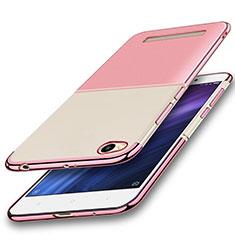 Custodia Silicone Trasparente Ultra Sottile Cover Morbida H01 per Xiaomi Redmi 4A Rosa