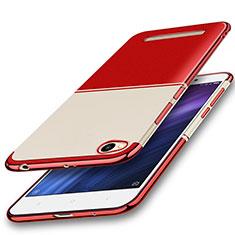 Custodia Silicone Trasparente Ultra Sottile Cover Morbida H01 per Xiaomi Redmi 4A Rosso