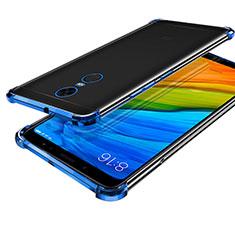 Custodia Silicone Trasparente Ultra Sottile Cover Morbida H01 per Xiaomi Redmi 5 Plus Blu