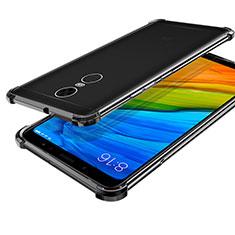 Custodia Silicone Trasparente Ultra Sottile Cover Morbida H01 per Xiaomi Redmi 5 Plus Nero