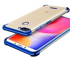 Custodia Silicone Trasparente Ultra Sottile Cover Morbida H01 per Xiaomi Redmi 6 Blu
