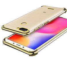 Custodia Silicone Trasparente Ultra Sottile Cover Morbida H01 per Xiaomi Redmi 6 Oro