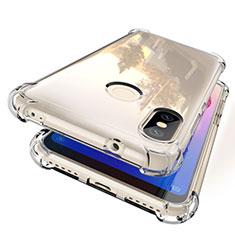 Custodia Silicone Trasparente Ultra Sottile Cover Morbida H01 per Xiaomi Redmi 6 Pro Chiaro