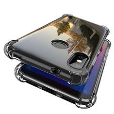 Custodia Silicone Trasparente Ultra Sottile Cover Morbida H01 per Xiaomi Redmi 6 Pro Grigio