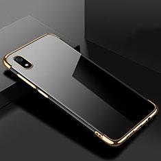 Custodia Silicone Trasparente Ultra Sottile Cover Morbida H01 per Xiaomi Redmi 7A Oro