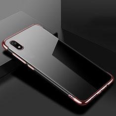 Custodia Silicone Trasparente Ultra Sottile Cover Morbida H01 per Xiaomi Redmi 7A Oro Rosa