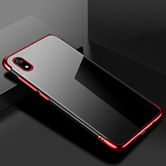 Custodia Silicone Trasparente Ultra Sottile Cover Morbida H01 per Xiaomi Redmi 7A Rosso