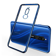 Custodia Silicone Trasparente Ultra Sottile Cover Morbida H01 per Xiaomi Redmi 8 Blu